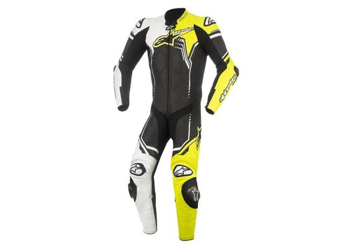 Alpinestars Alpinestars GP Plus V2  1PC Leather Suit Black White Yellow Fluo