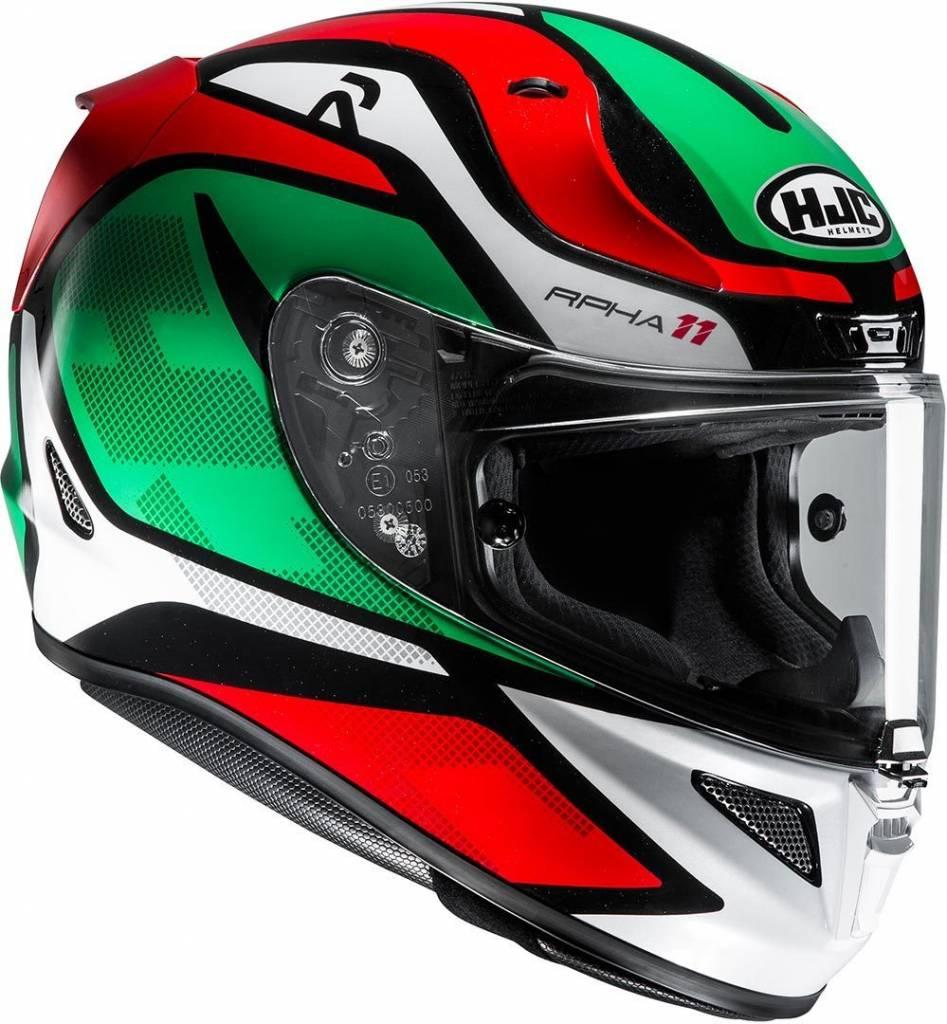 Buy Hjc Rpha 11 Deroka Helmet Red Green And Get A Free Extra Visor Stiker Helm Desain Lorenzo