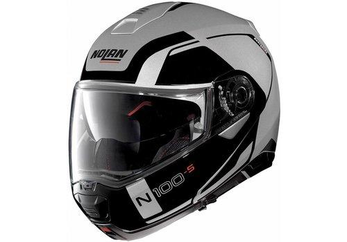 NOLAN Nolan N100-5 Consistency N-Com Schwarz Silber Helm