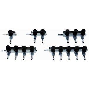 AquastoreXL Luchtverdeler 9mm 4 uitgangen met kraan