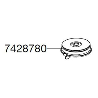Eheim POMPDEKSEL VOOR 2071-2073-2075-2074