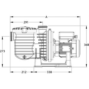 Sta-rite Zwembadpomp 63 mm lijmmof 400V type 5P6RF-3E2 1,5pk