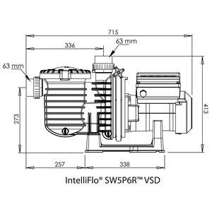 Sta-rite Zwembadpomp 63 mm lijmmof 230V type SW5P6R VSD 3pk