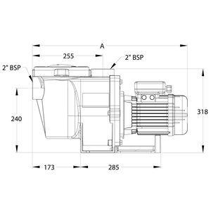 "Sta-rite Zwembadpomp 2"" binnendraad 400V type WhisperPro S5P5RF-3E2 1,5pk"