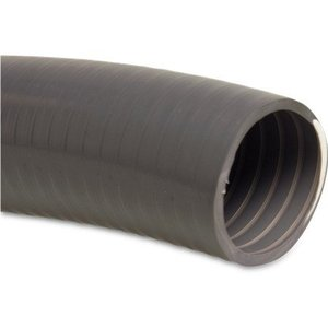 Mega Zwembadslang PVC 34 mm x 40 mm 5bar grijs type Poolflex