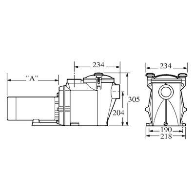 Hayward Zwembadpomp 63 mm lijmmof 230V type RS II VSTD