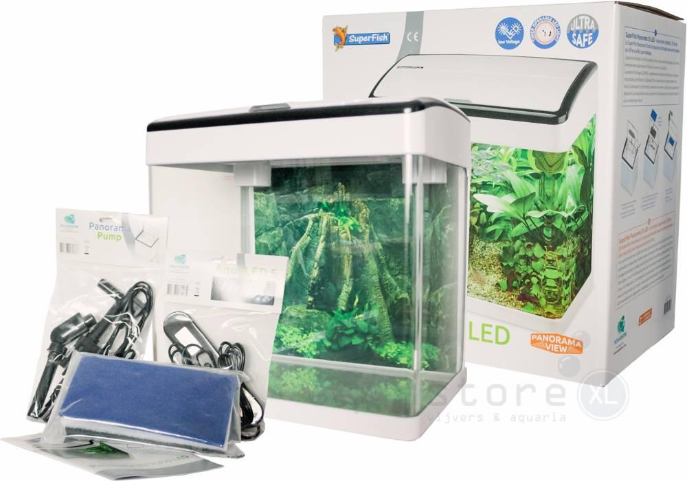 Panorama 35 Wit, aquarium met gebogen glas - AquastoreXL
