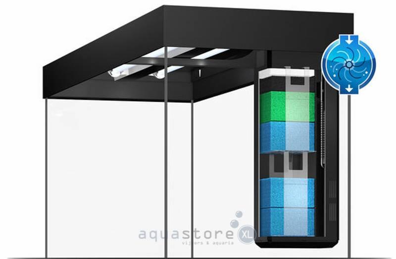 trigon 350 led complete set met led en filter aquastorexl. Black Bedroom Furniture Sets. Home Design Ideas