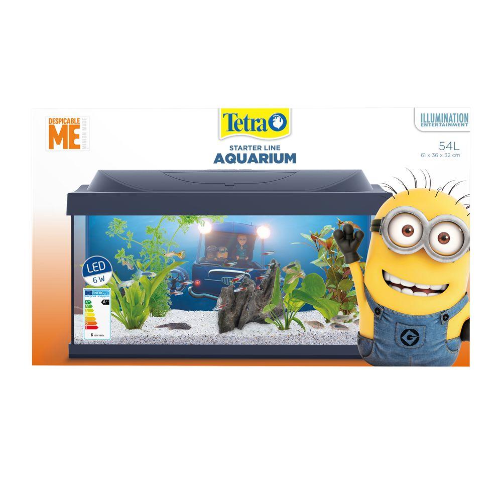 tetra minion led aquarium 54 liter aquastorexl. Black Bedroom Furniture Sets. Home Design Ideas