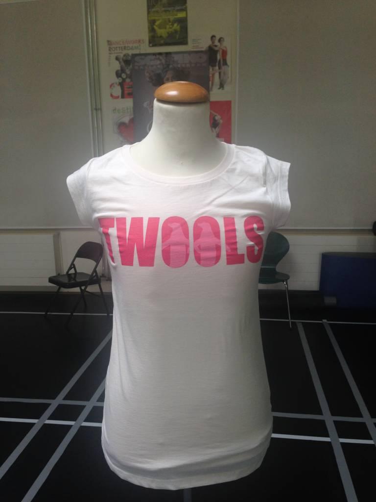 Dames T-shirt met TWOOLS logo groot