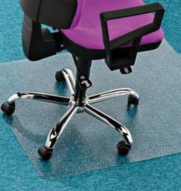 Floortex Computex Stoelmat tapijt vloer PVC anti statisch met lip recht