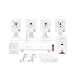Oplink Tripleshield C4S6 met 4 camera's en 6 sensoren Draadloos alarmsysteem
