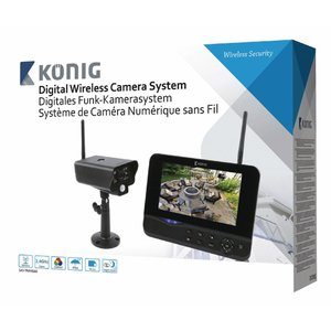 "König SAS-TRANS60 Digitaal 2.4 GHz draadloos camerasysteem met 7 "" beeldscherm"