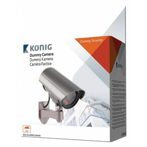 König SAS-DUMMYCAM30 CCTV dummy camera in buitenbehuizing + led