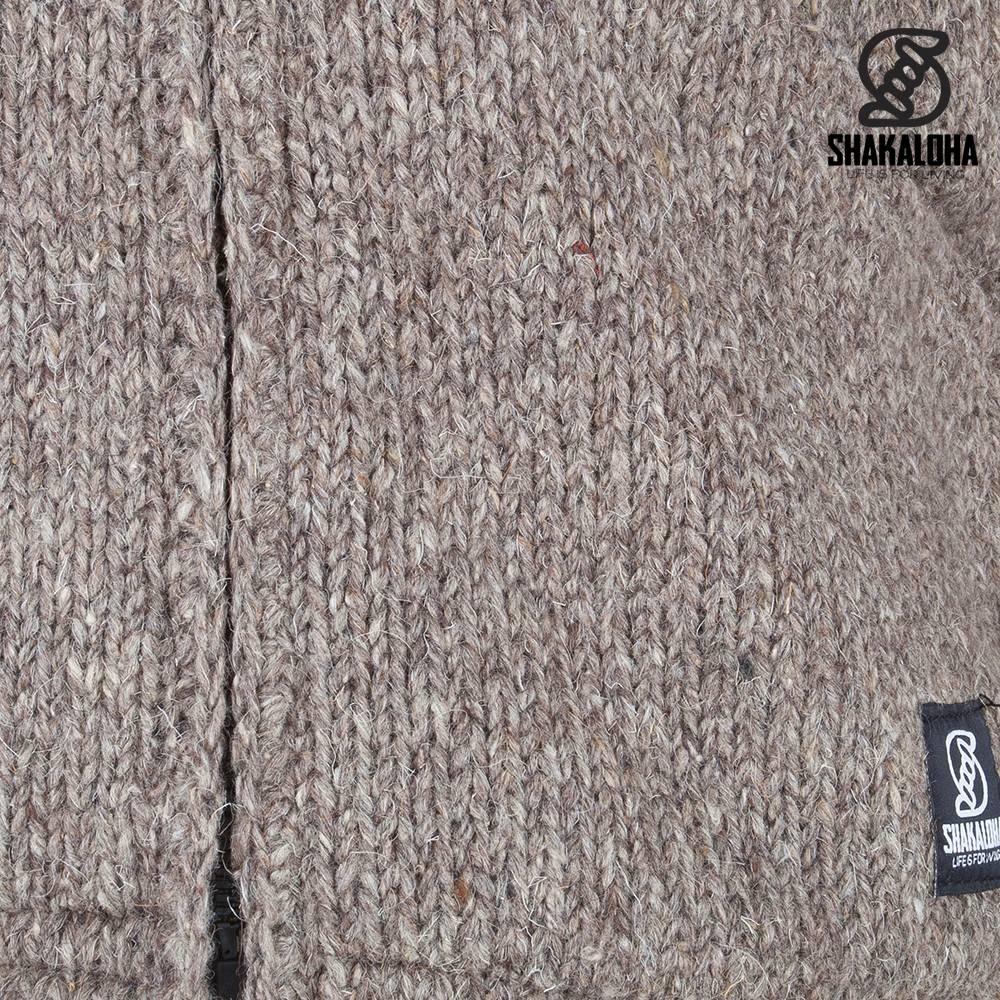 Shakaloha crush ziphood licht bruin taupe wollen vesten voor dames en heren van shakaloha - Bruin taupe ...