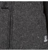 Shakaloha Flash Collar Antraciet Donkergrijs wollen heren vest van schapenwol uit Nepal.