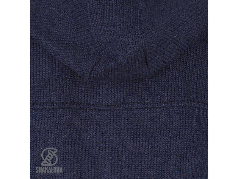 Shakaloha Navigator Navy Marine Gevoerd Wollen Vest