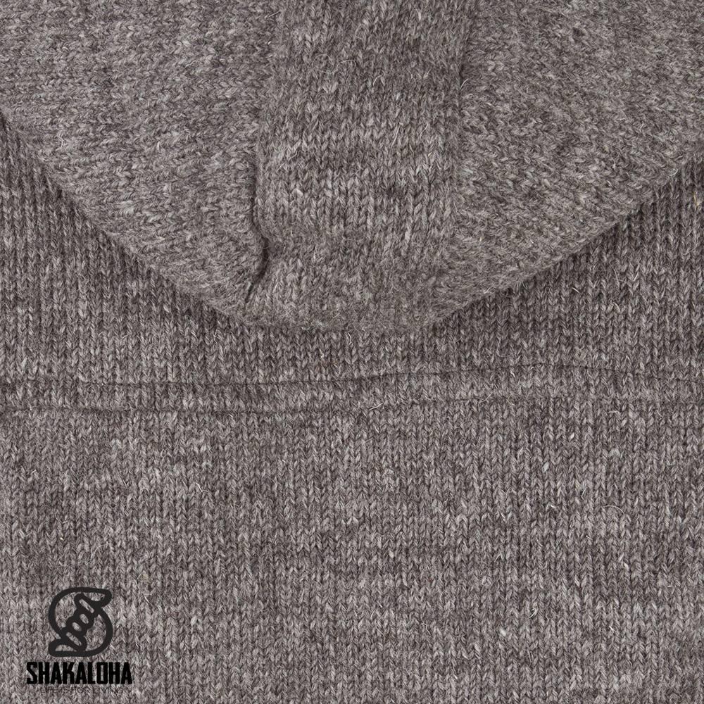 Shakaloha navigator licht bruin taupe wollen vesten voor dames en heren van shakaloha - Licht taupe grijs ...