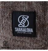 Shakaloha Cody Schapen Wollen Damesvest Lichtbruin met fleece voering, houtjetouwtje sluiting