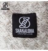 Shakaloha Idol Beige Lang dames vest van wol in lichte kleur en speciale breisteek