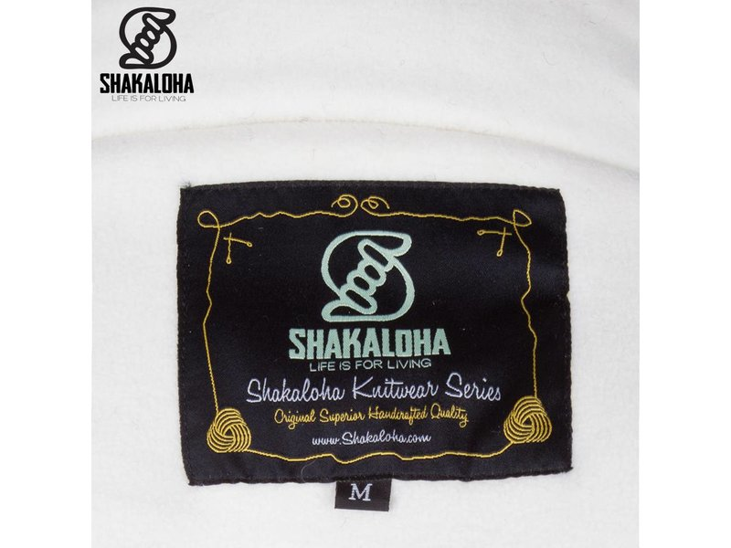 Shakaloha Luxe gebreid vest met fleece voering Chuck Ziphood Beige