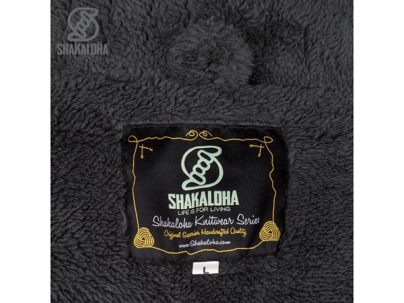 Shakaloha Bodhi Antraciet gebreid wollen vesten met sherpa teddy voering