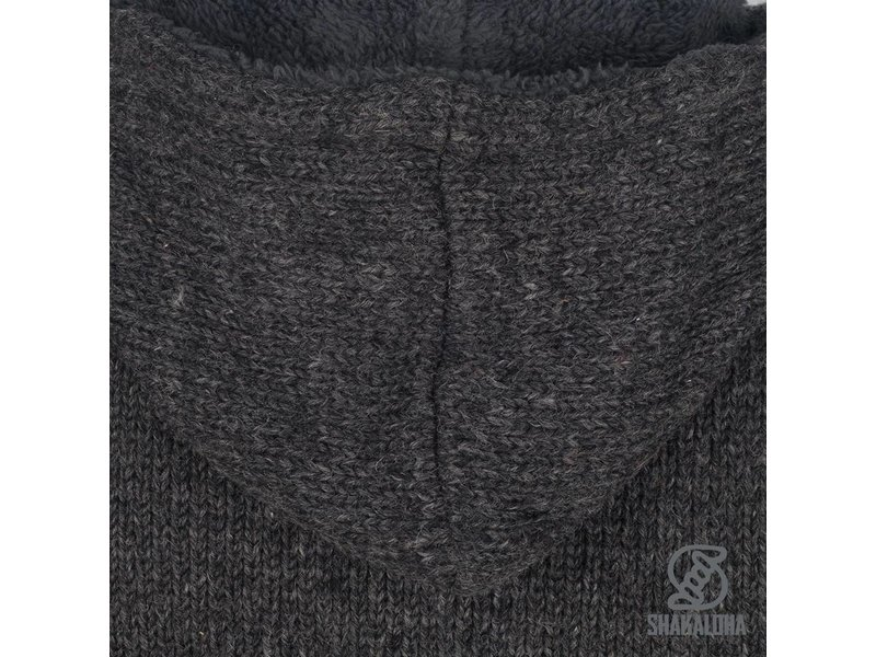 Shakaloha Shakaloha Tyler Sherpa Dames Gebreid Wollen Dames Vest met teddy voering