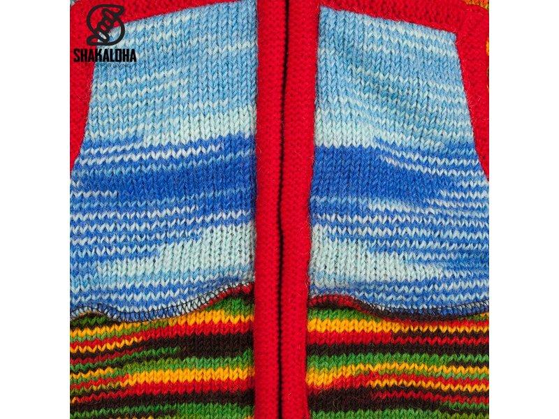 Shakaloha Single Patchwork Multicolor voor Dames, dunnere steek patchwork vest