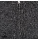 Shakaloha Shakaloha wollen mannen vest Vertical Collar Antraciet met hoge kraag