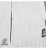 Shakaloha Shakaloha Wollen Vest Vertical Collar Beige zonder capuchon met raglan mouw