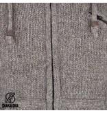Shakaloha Licht brown Wollen Vest van Shakaloha Chitwan Classic met vaste capuchon en fleece voering