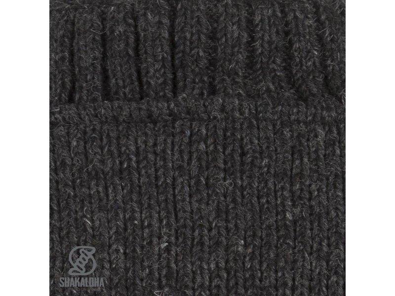 Shakaloha Klassiek Wollen Vest met borstzakje Parsa Classic Antraciet