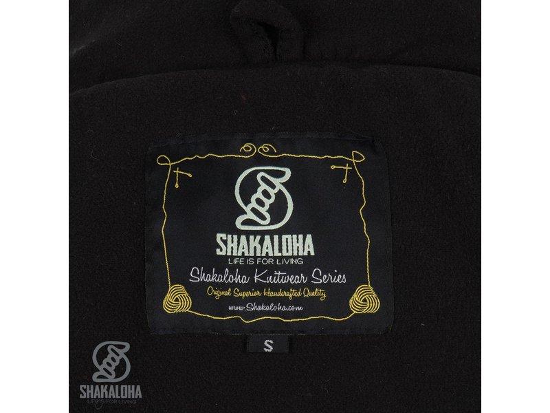 Shakaloha MIddellang fleece gevoerd schapen wollen dames vest gebreid met schapenwol