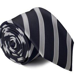 Zwart/grijze stropdas