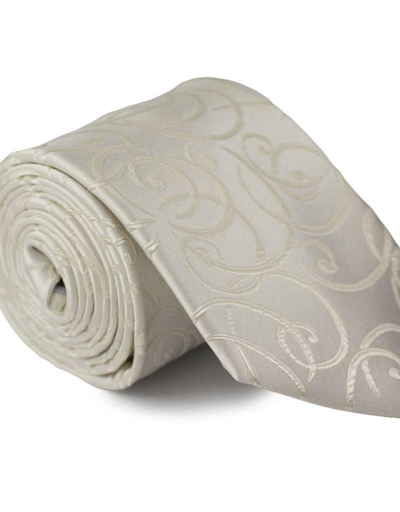 Wit/gouden trouwdas