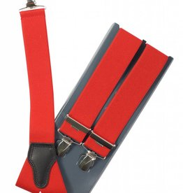 Bretels, rood uni, breed (36mm)