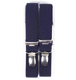 Bretels, marine blauw, smal (24mm)