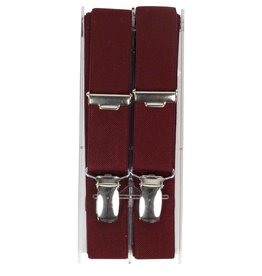 Bretels, bordeaux rood, smal (24 mm)