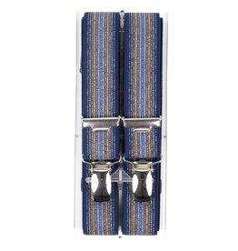 Bretels, blauw streepdessin, smal (24mm)