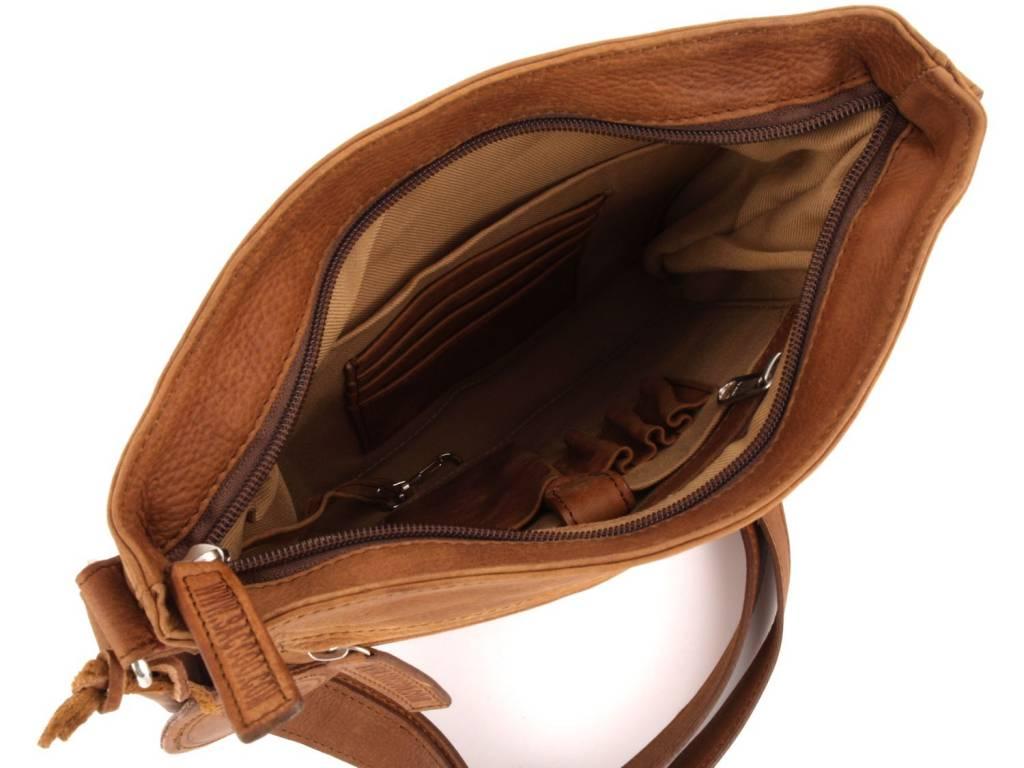 Saccoo Saccoo Para Tobacco handgemaakte lederen tas kleine shopper bag
