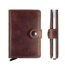 Secrid Secrid Mini Wallet Vintage Brown pasjeshouder
