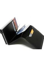 Secrid Secrid Slim Wallet Card Protector Black leren uitschuifbare pasjeshouder
