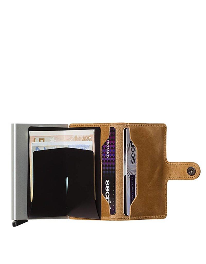 Secrid Secrid Mini Wallet pasjeshouder Vintage Cognac leren uitschuifbare portemonnee