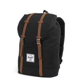 Herschel Herschel Retreat Black Tan rugzak met laptopvak