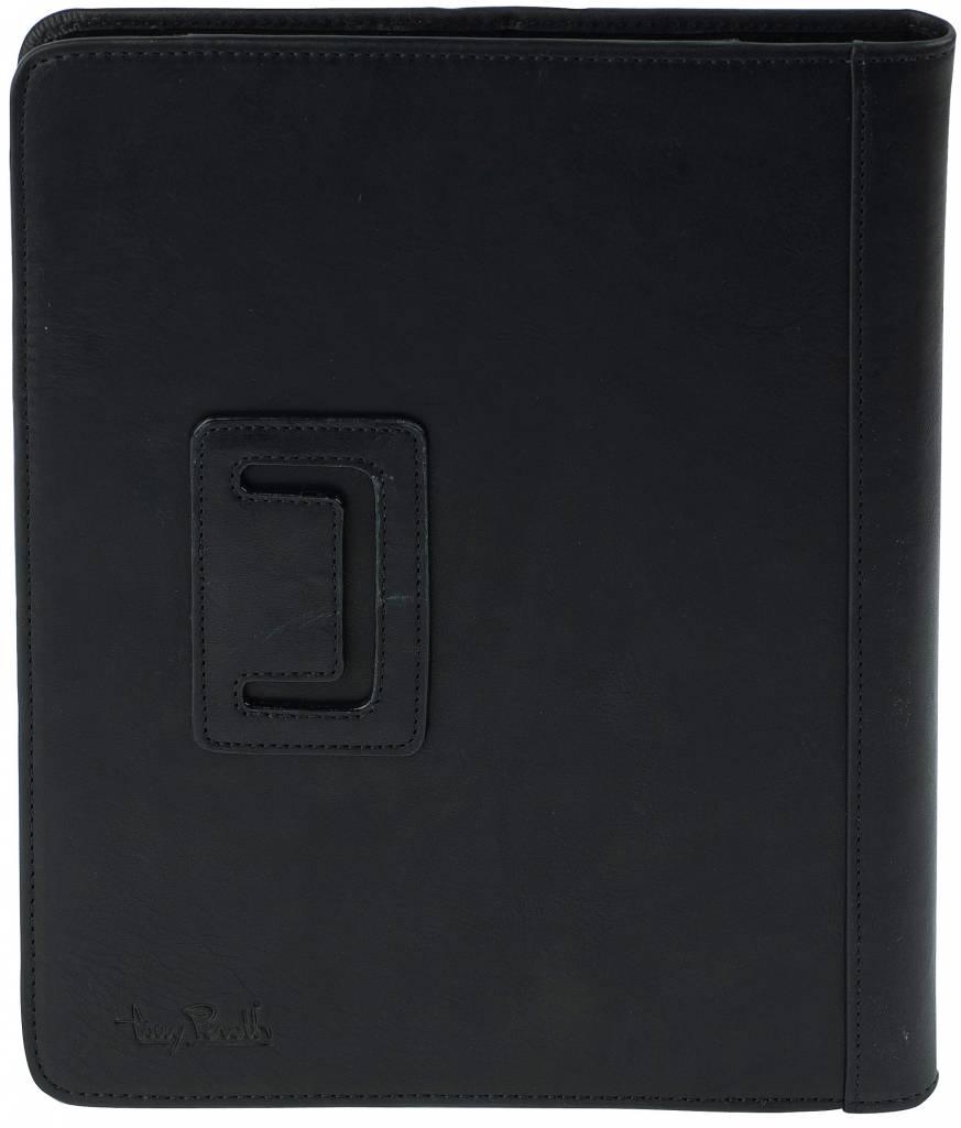 Tony Perotti Tony Perotti - leren ipad cover - ipadhoes - 1 - 2 -  zwart