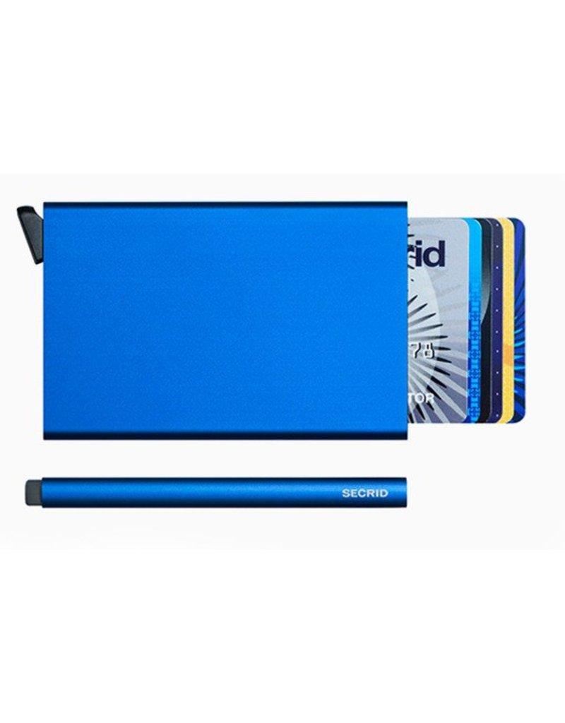 Secrid Secrid cardprotector blauwe uitschuifbare pasjes bescherming
