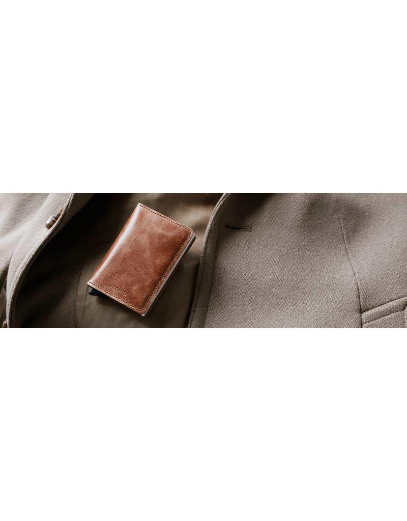 Secrid Secrid Slim Wallet Vintage Cognac leren uitschuifbare pasjeshouder portemonnee