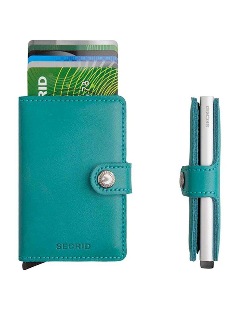 Secrid Secrid Mini Wallet Original Emerald leren uitschuifbare pasjeshouder