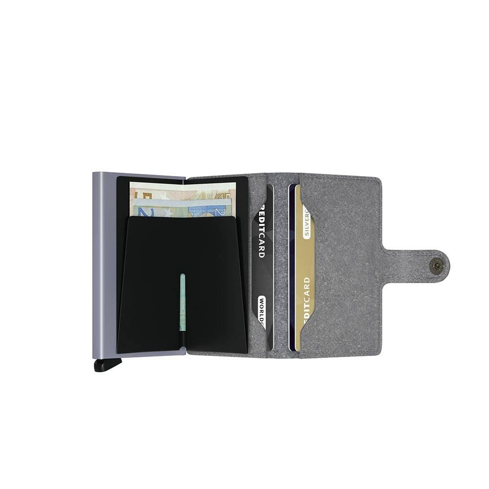 Secrid Secrid Mini Wallet Recycled Stone leren uitschuifbare pasjeshouder