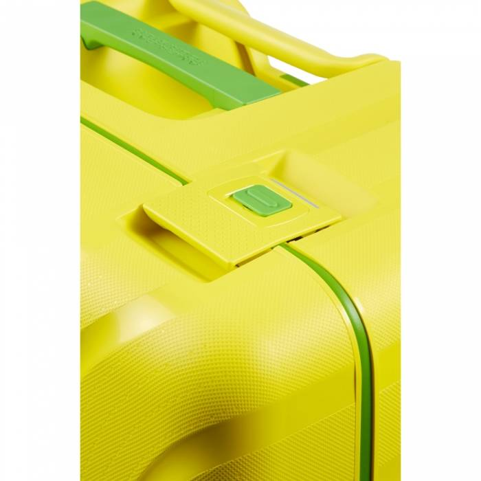 American Tourister Gele American Tourister Lock 'n Roll Spinner 55 Sunshine Yellow handbagagekoffer
